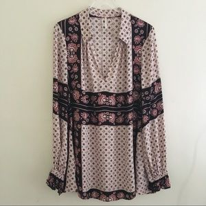 Free People Floral Over Size Tunic Top / Dress M
